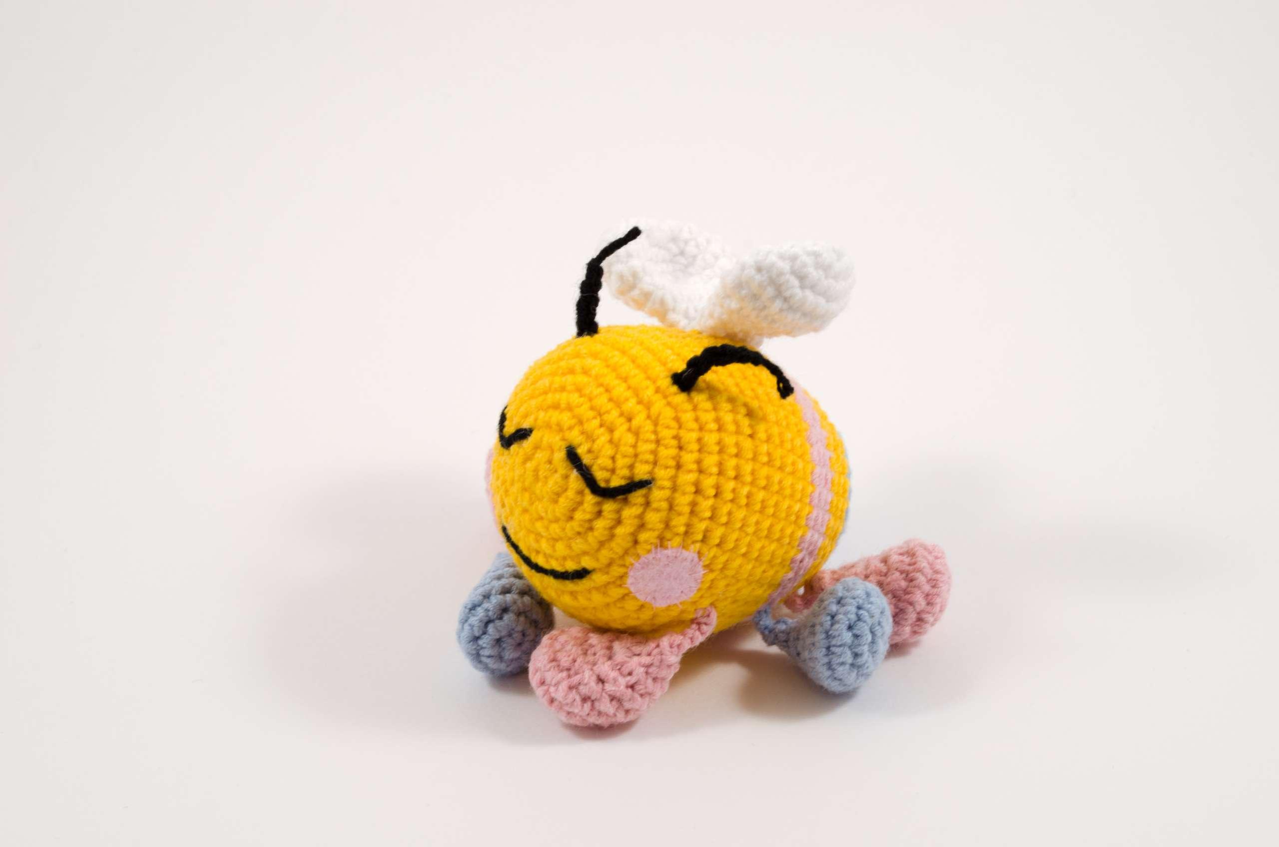 crochet bibi the bee toy