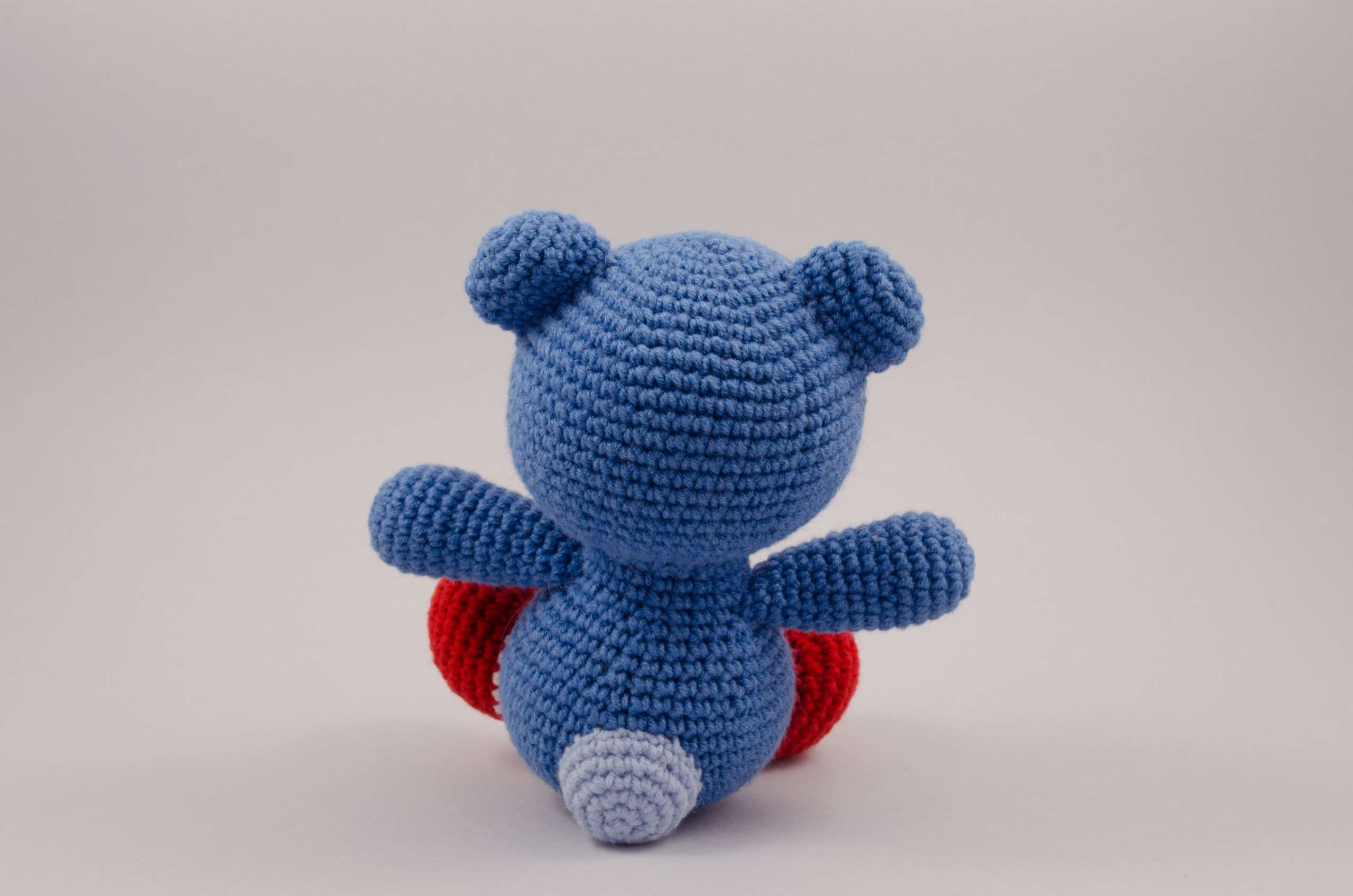 crochet teddy bear back view