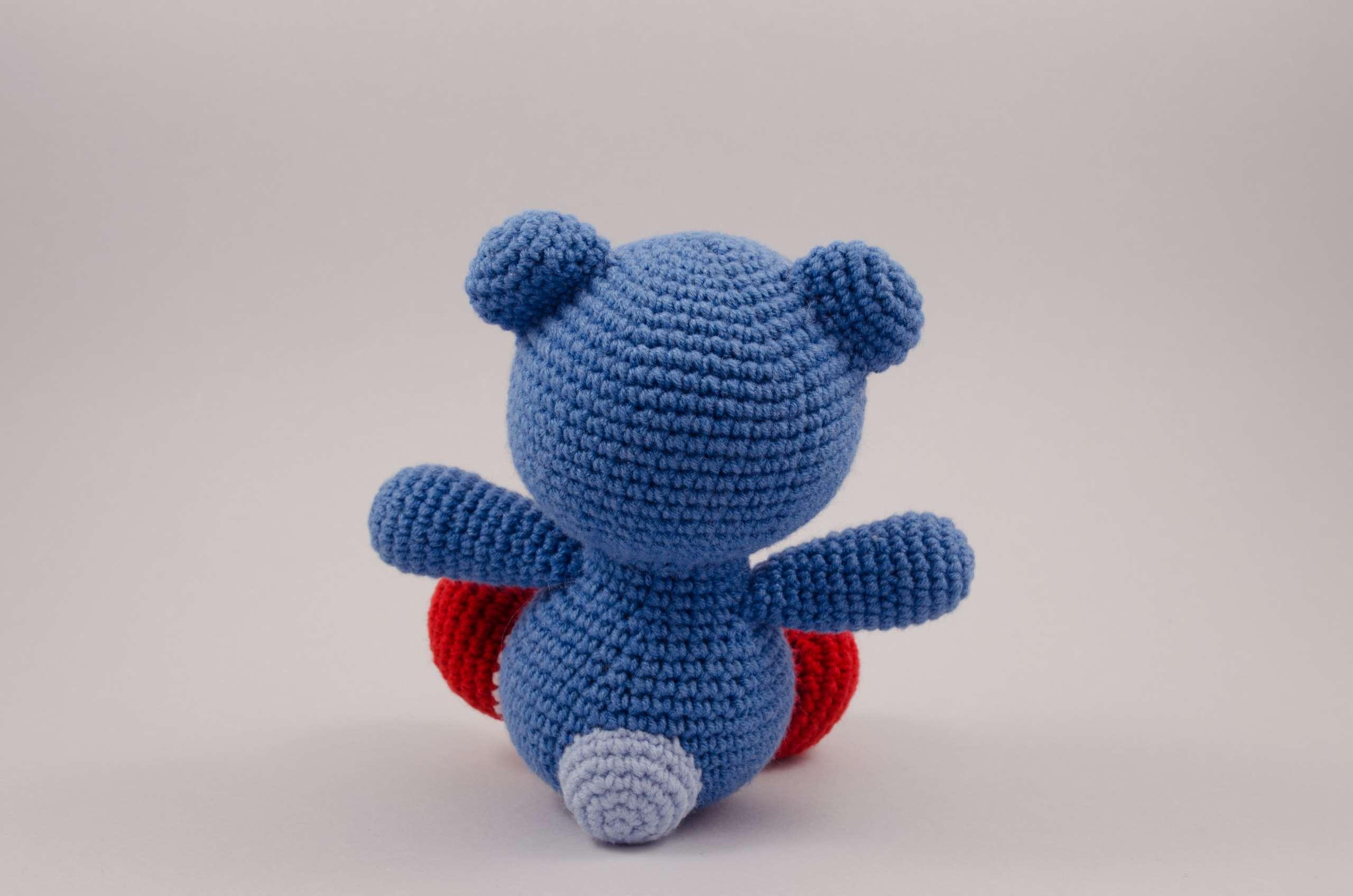 crochet teddy bear back view