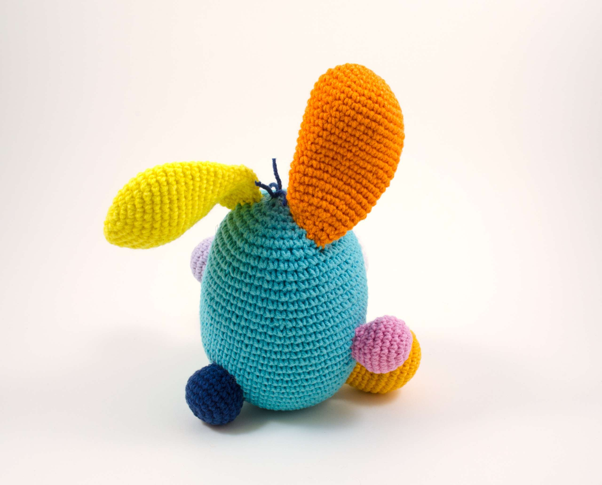 crochet funny bunny back view