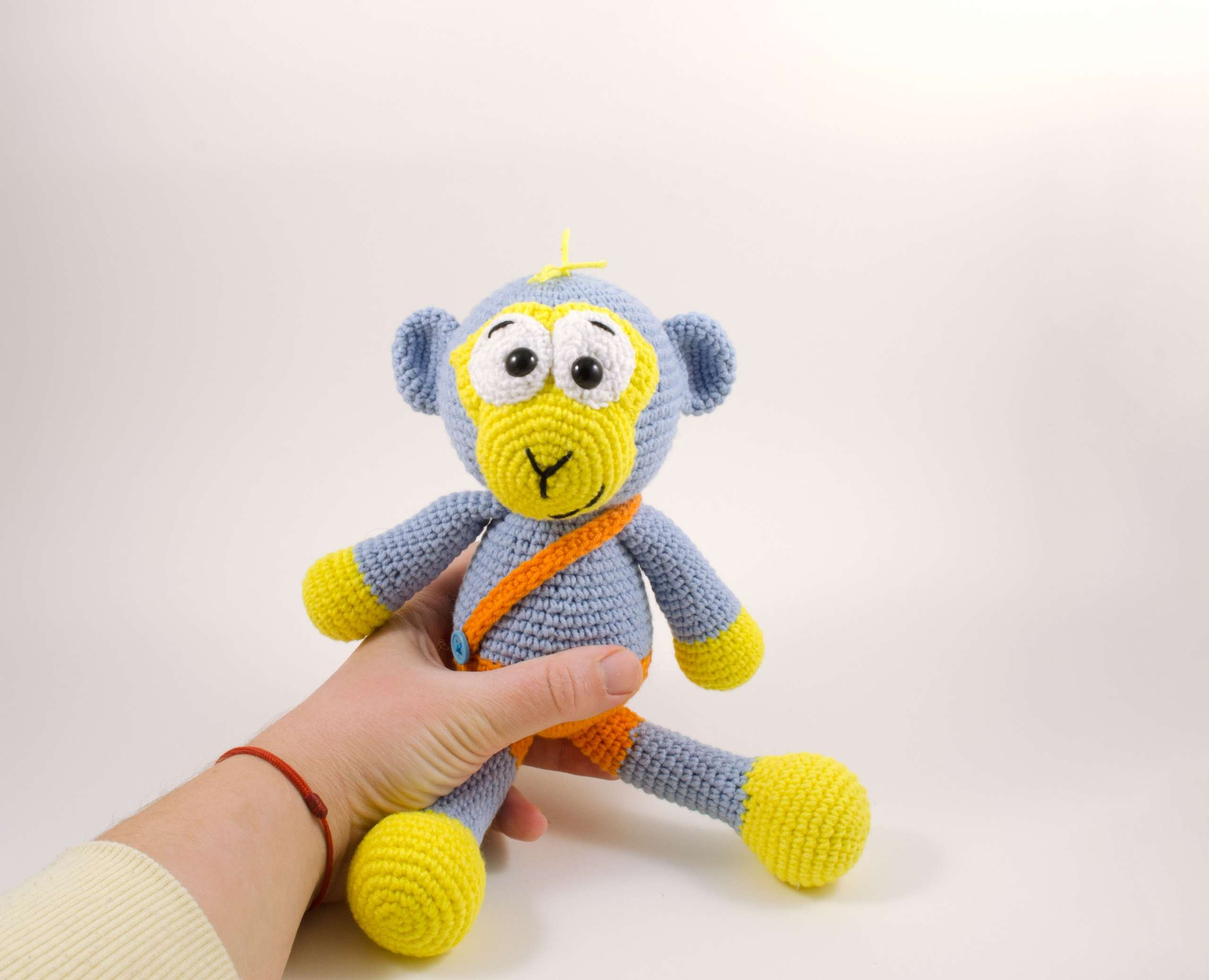 handmade blue monkey