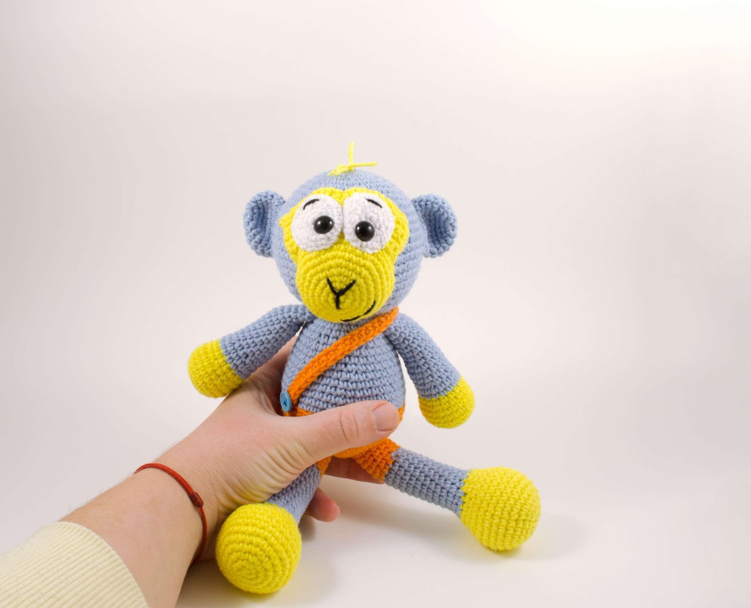 handmade blue monkey