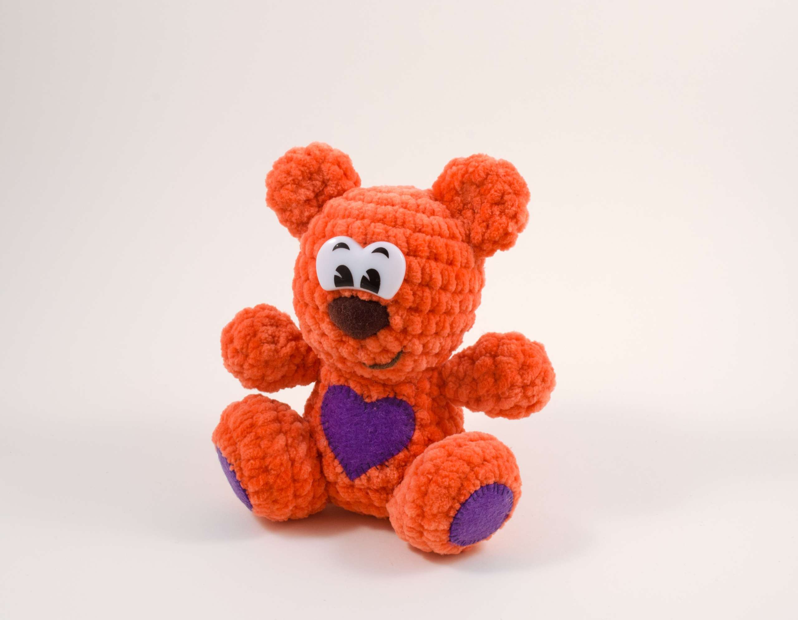 crochet teddy bear front view