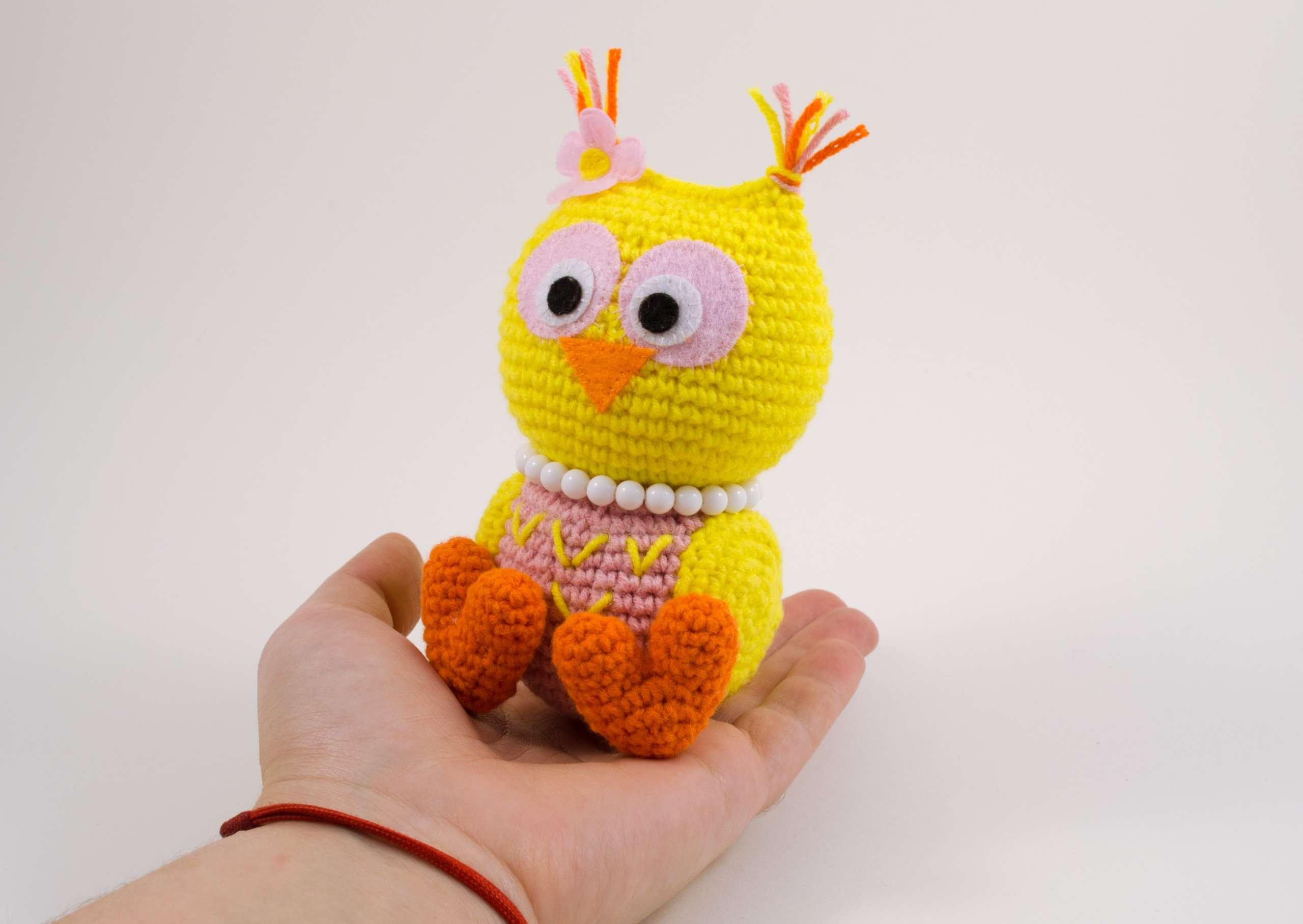 crochet baby owl front view