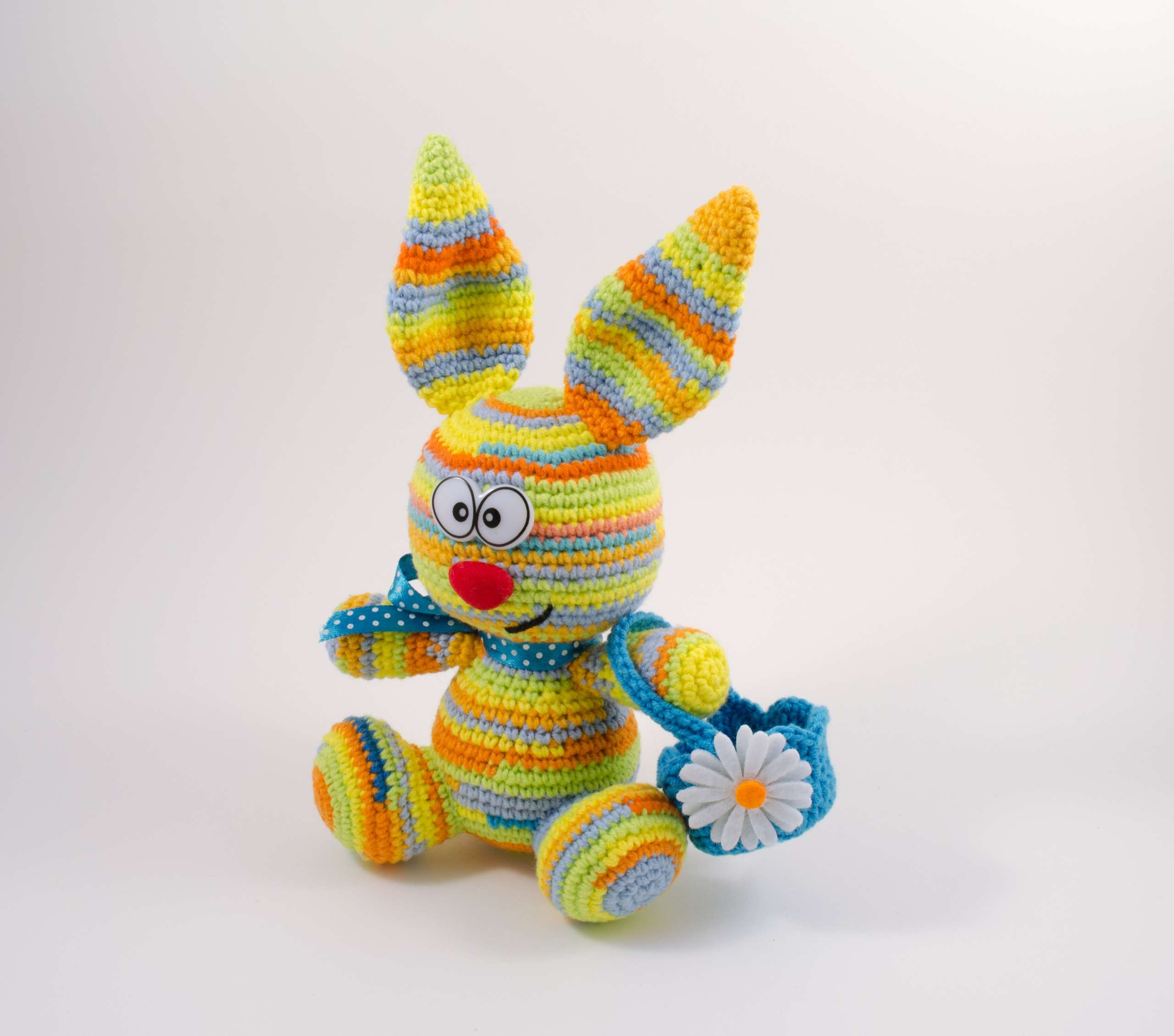 crochet Easter bunny front view