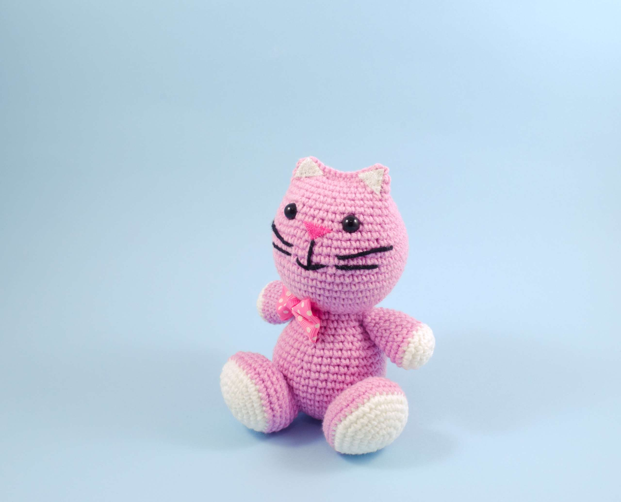 cute pink kitty doll