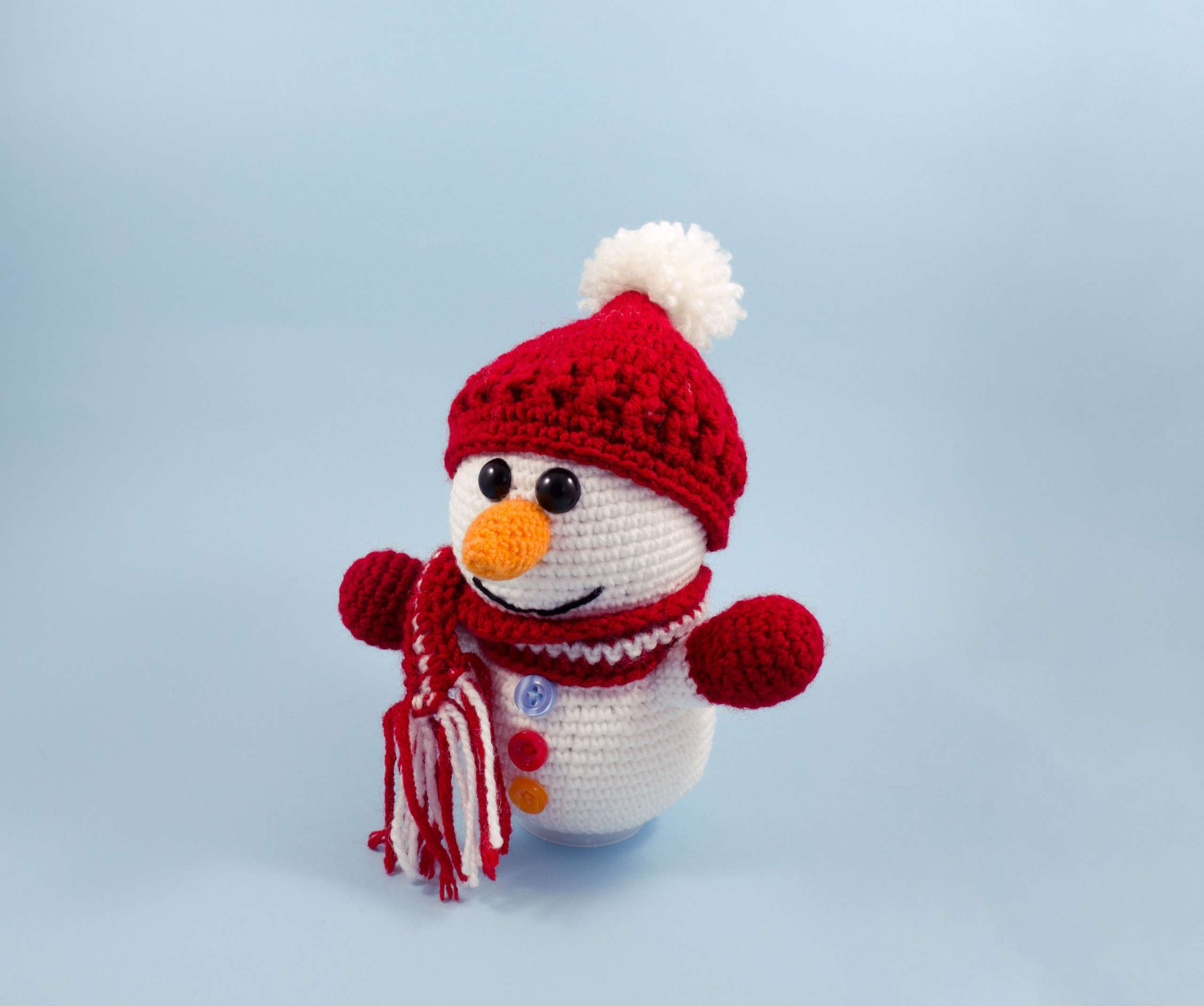 crochet snowman toy