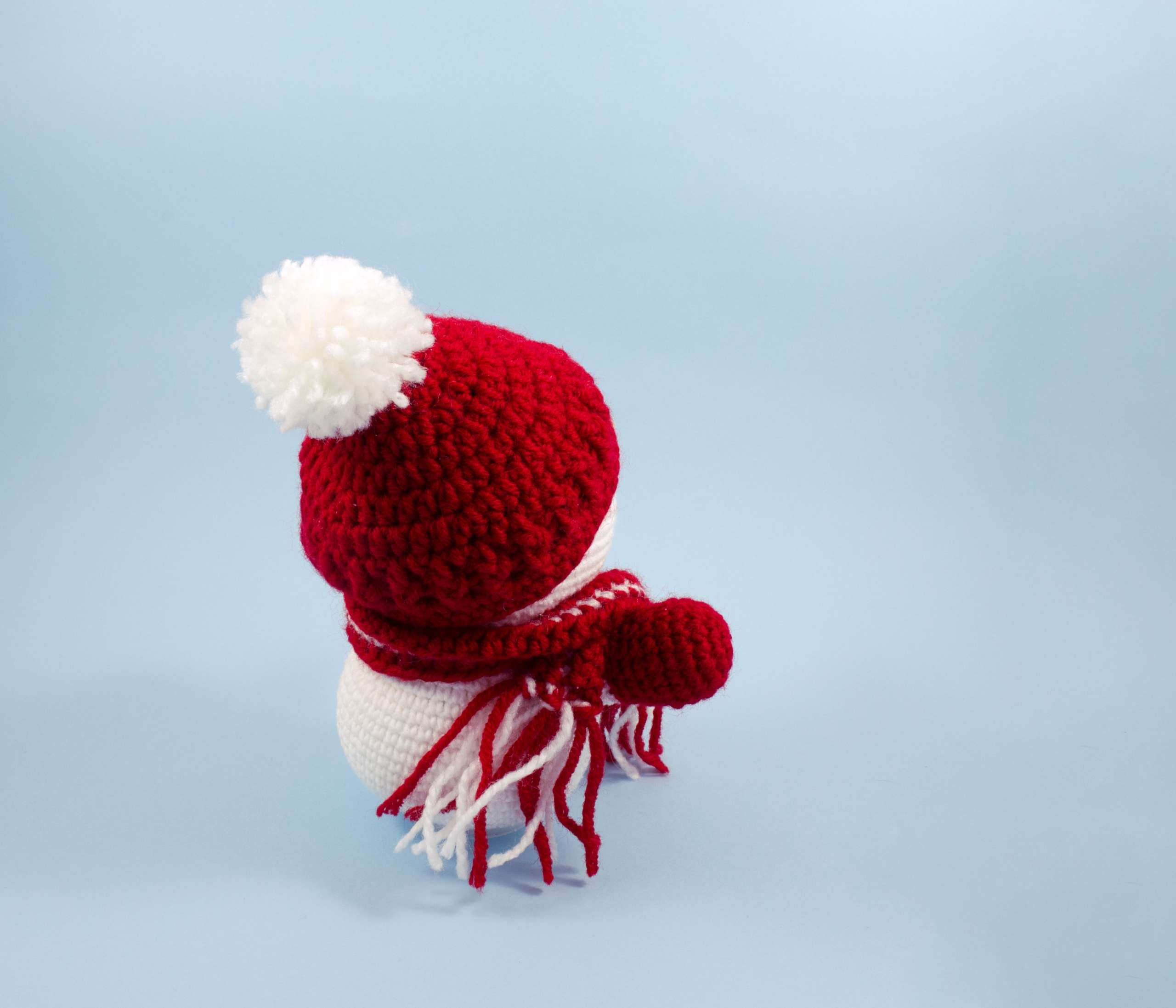 crochet snowman back view