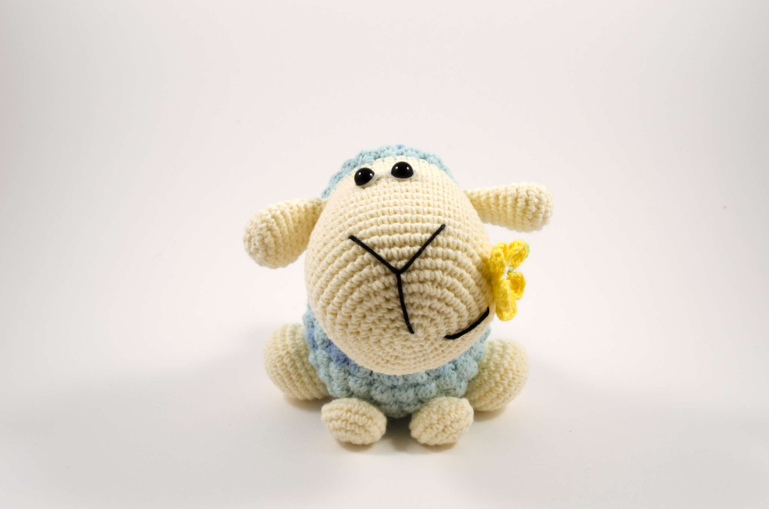 crochet sheep front view