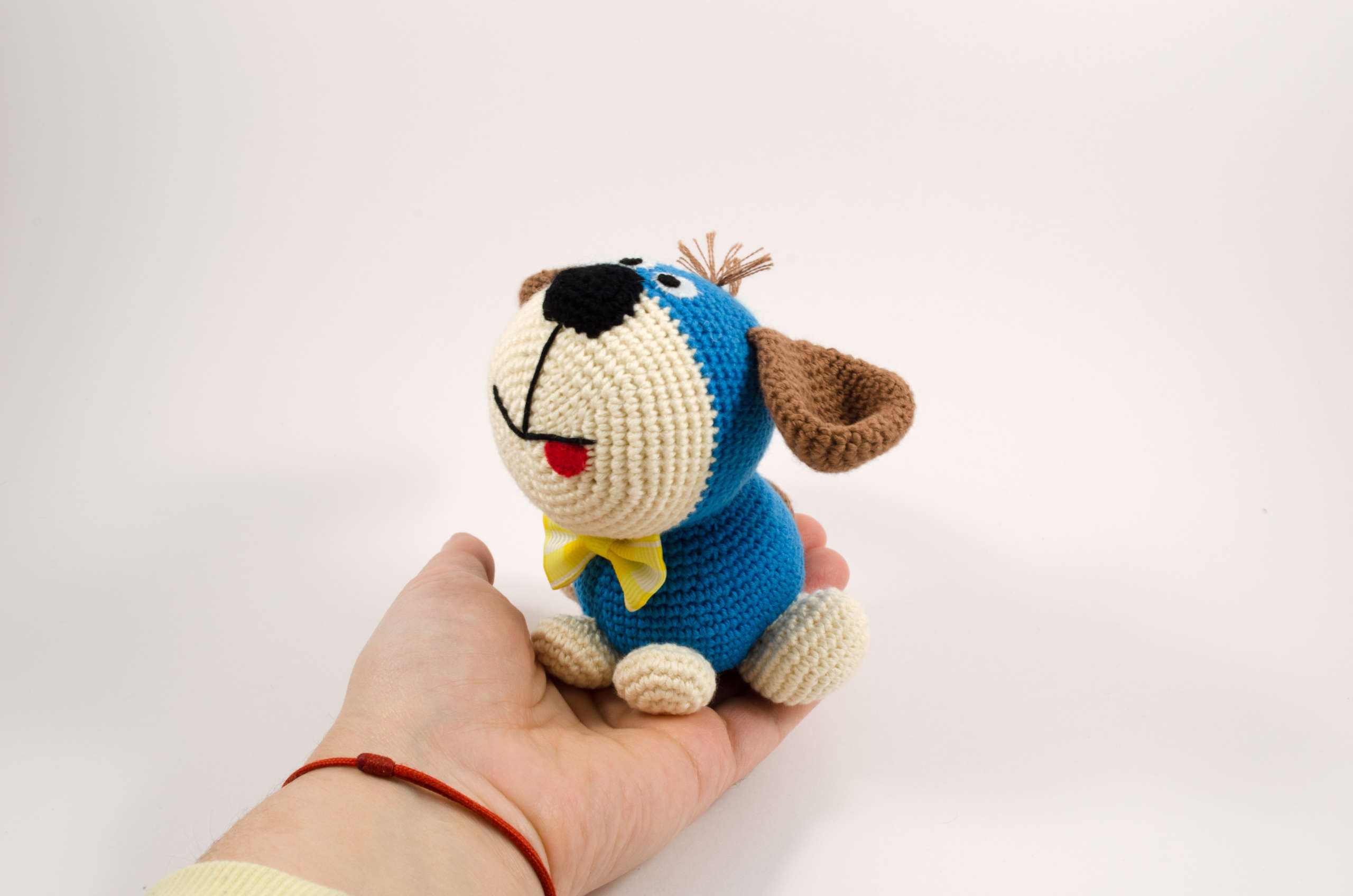 crochet puppy dog front view