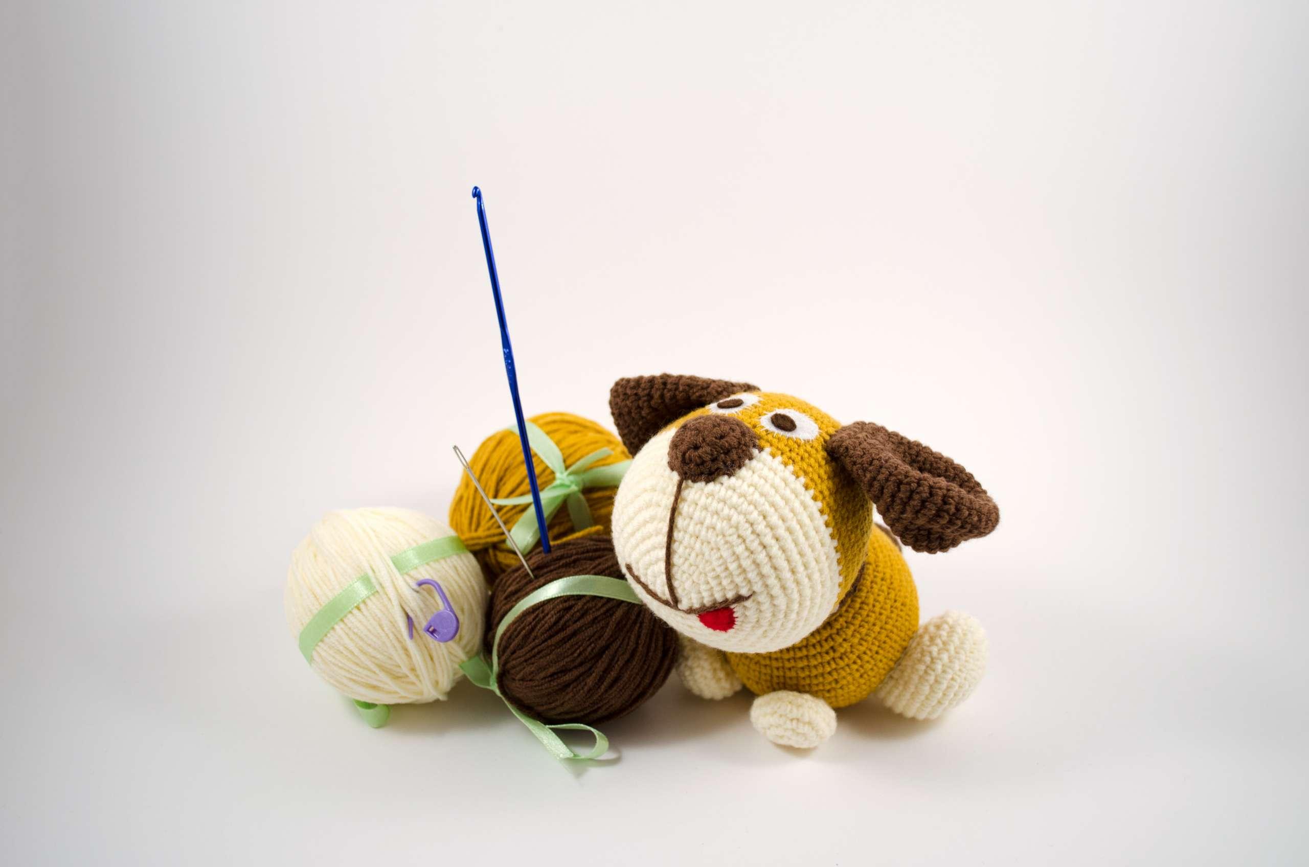 crochet puppy diy kit