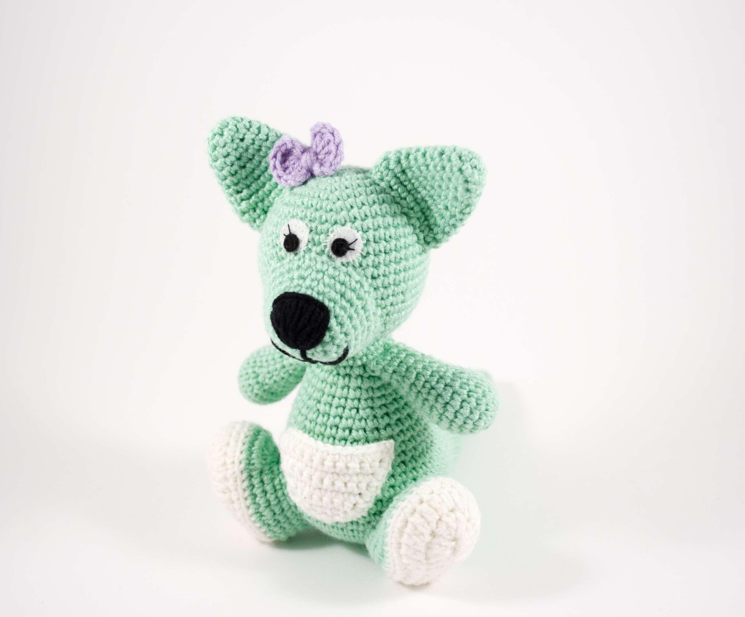 crochet kangaroo doll