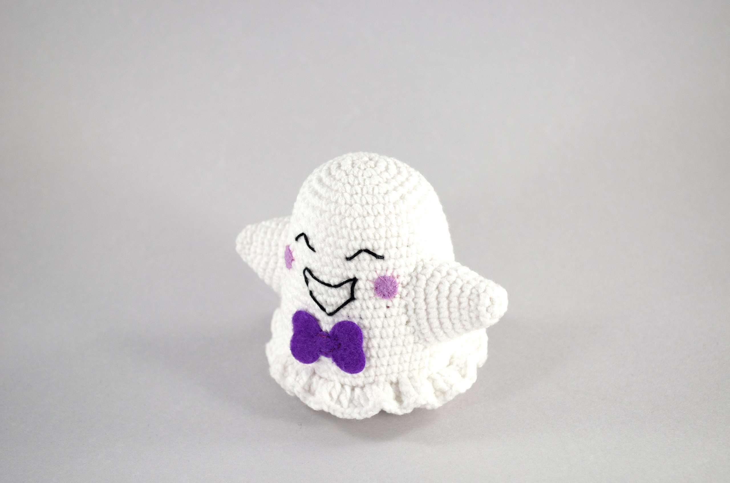 crochet ghost front view
