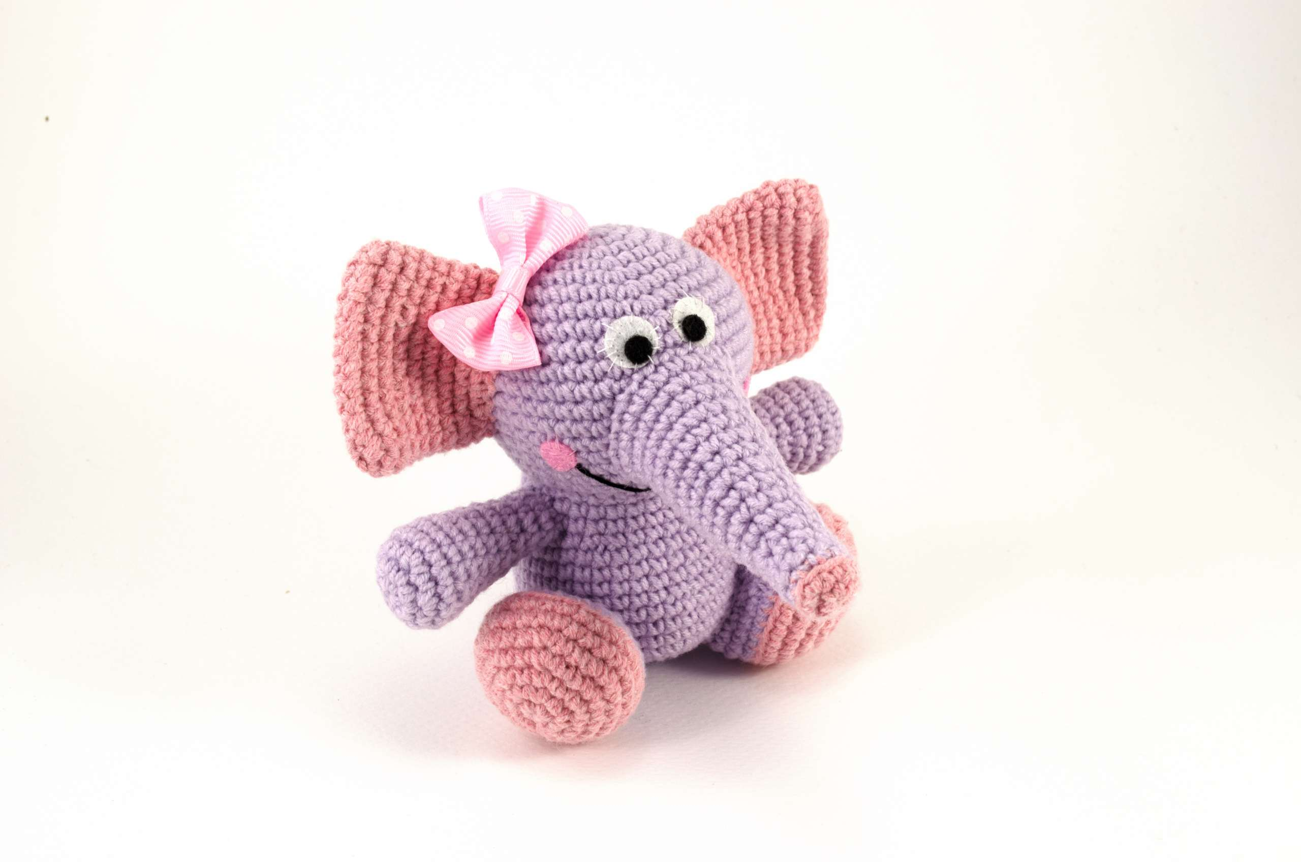 crochet tammy the purple baby elephant