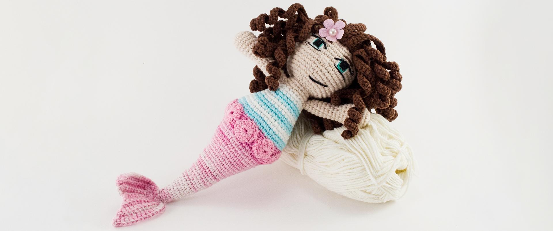 crochet sea siren front view