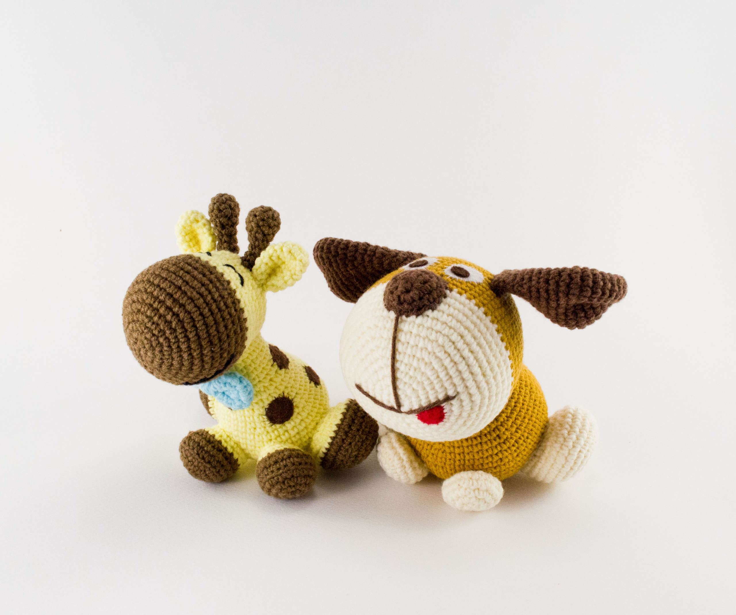 crochet dog and giraffe pattern
