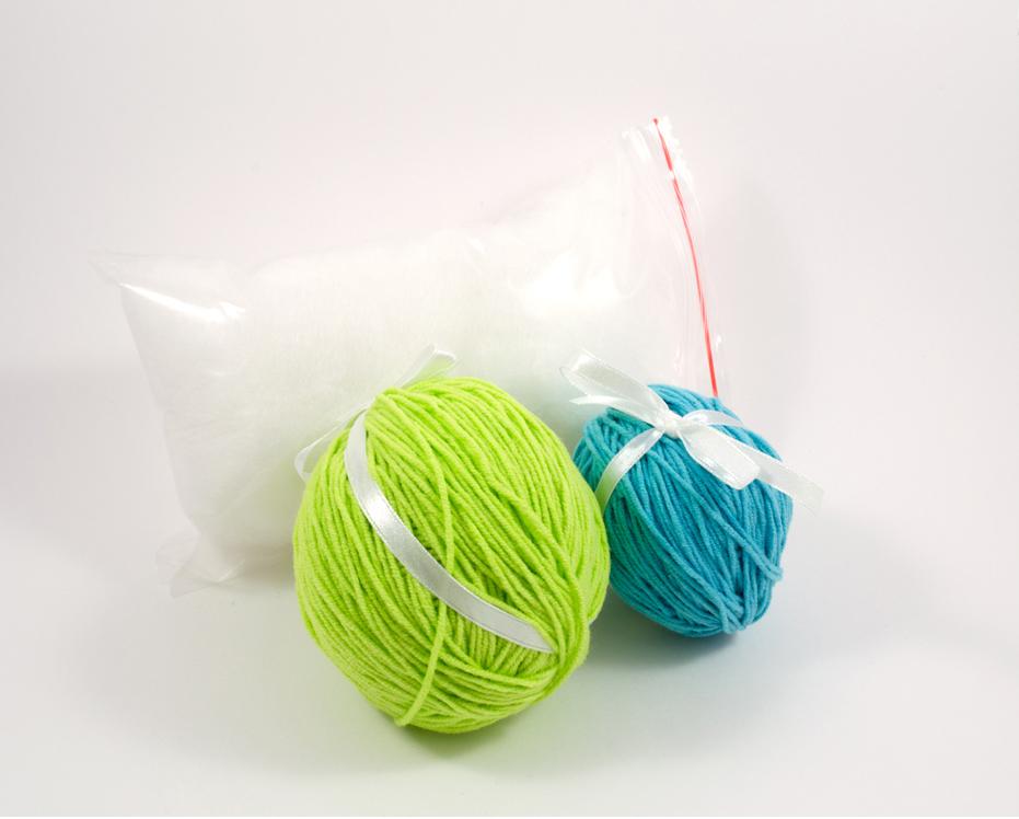 crochet dragon diy kit supplies