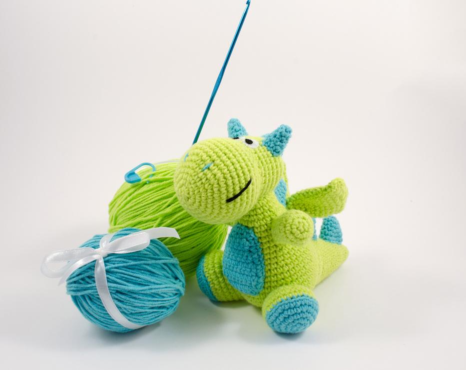 crochet dragon diy kit