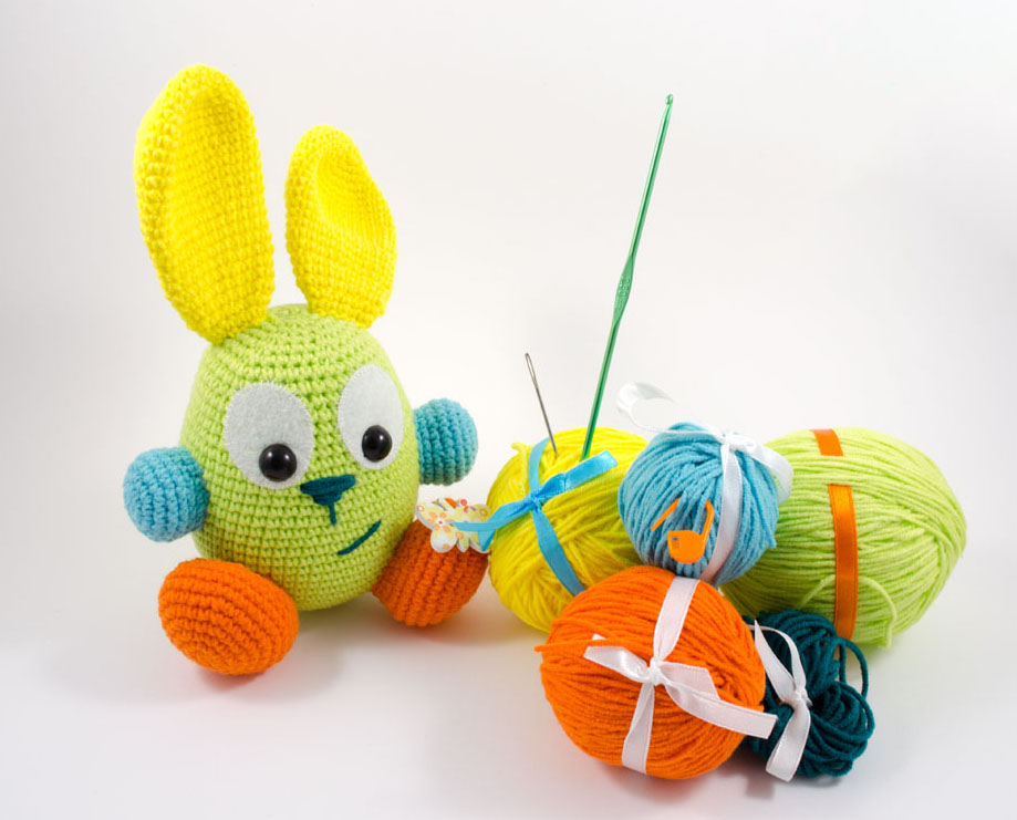 crochet easter bunny diy kit