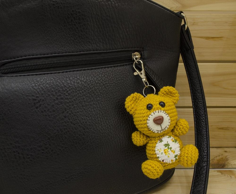 crochet teddy bear keyring