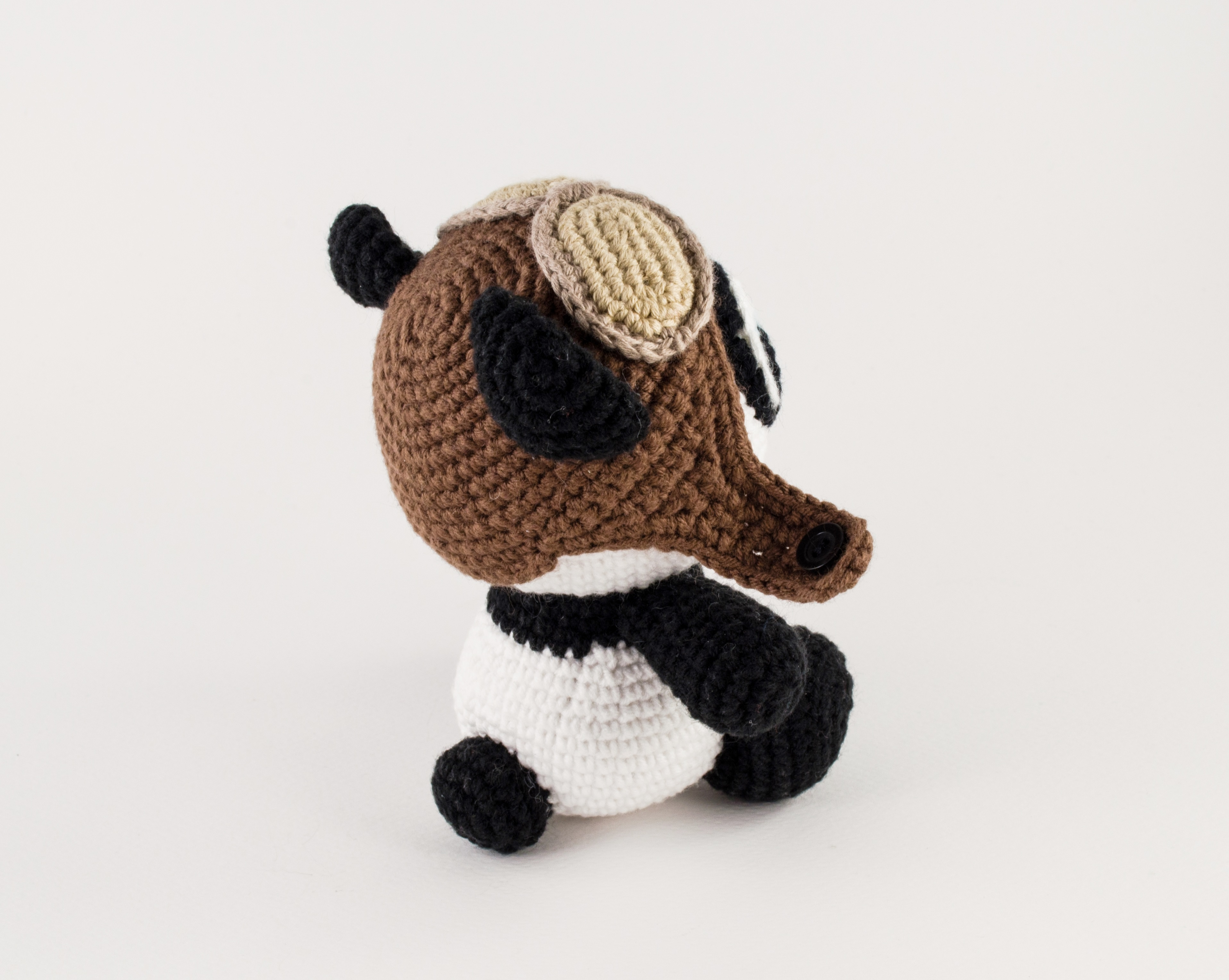 crochet panda back view