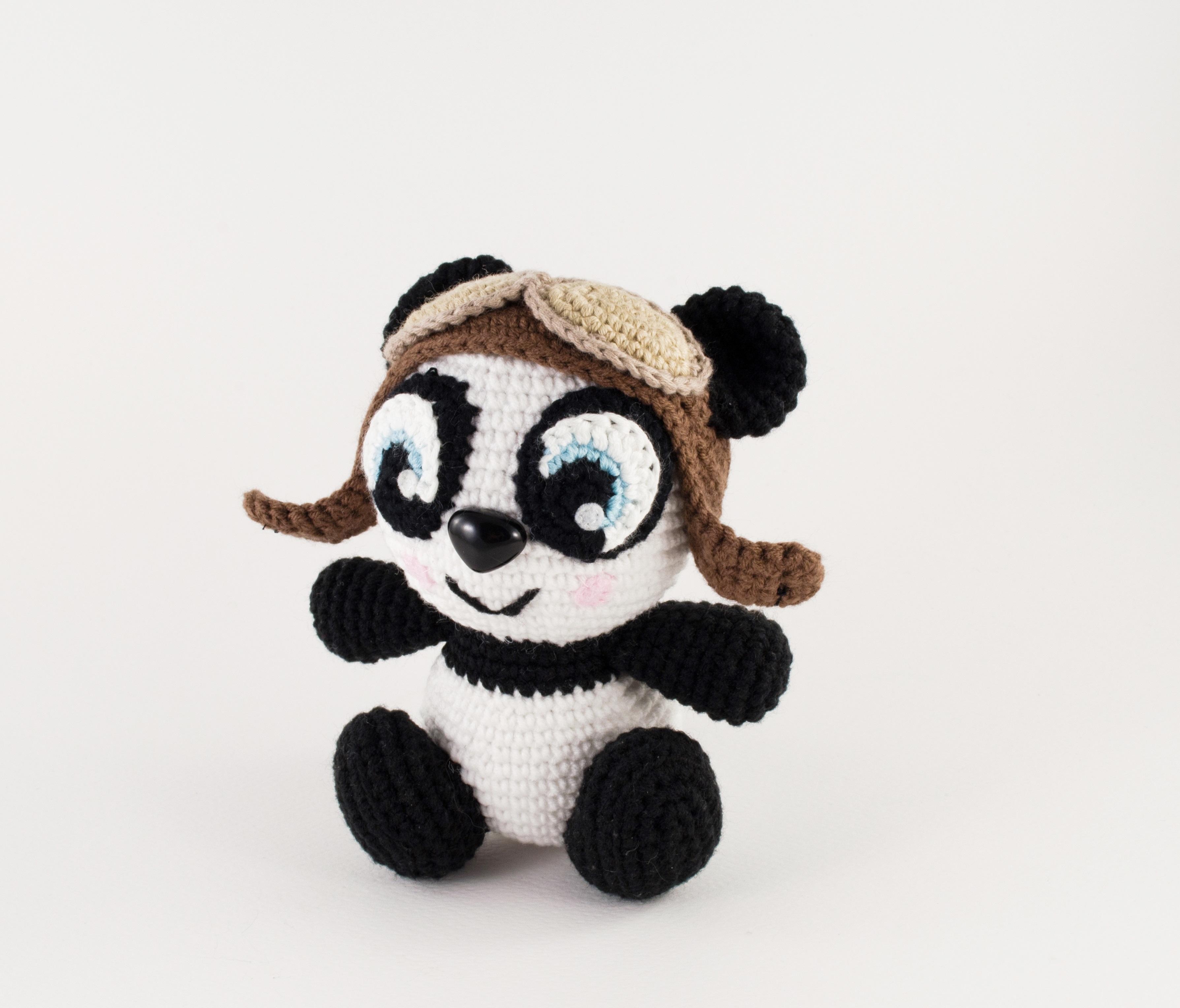 crochet panda front view
